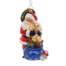 ornaments black santa resin ornament sbkgifts