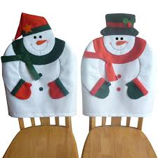 Christmas Chair Back Covers 2 Pcs Set Lovely Christmas Chair Covers Mr U0026 Mrs Santa Claus Chair