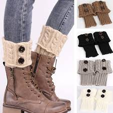womens boot socks canada 2018 winter knitting sock boots leg warmers boot cover keep warm