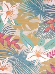 Floral Area Rug Delectably Yours Com Palm Leaves Blue Tropical Beach Area Rug By