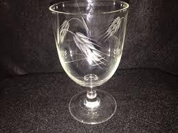 Sasaki Crystal Vase Vintage 1950 U0027s Crystal Sasaki Wheat Pattern Water Goblets 5 1