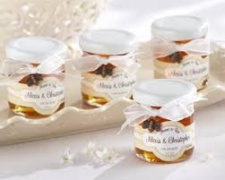 wedding favor jars meant to bee personalized clover honey favor jars set of 12