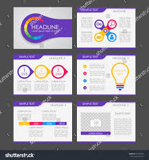 colorful infographic fluer presentation template web stock vector