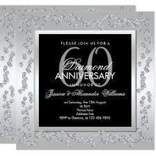 60th wedding anniversary plate stylish diamonds silver 60th wedding anniversary card 60 wedding