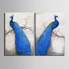 aliexpress com buy art print oil painting peacock decoration