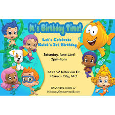 bubble guppies birthday party invitations stephenanuno