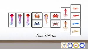 brown jellyfish home decor wall art nautical beach fisherman gift