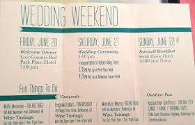 wedding itinerary for guests wedding woes be the how to guide for banishing wedding
