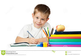 nice pencils nice student with books and pencils royalty free stock image