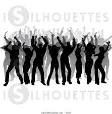 vintage cocktail party clipart party silhouette clip art 68