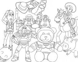 toy story 3 andy toys coloring pages boys coloring