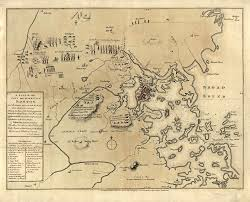 Maps Boston by Lexington Concord Battle Map