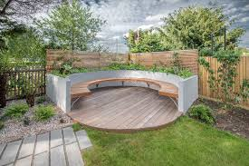garden seat ideas deck contemporary with plank paving outdoor
