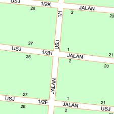 map usj 1 map of jalan usj 1 1a