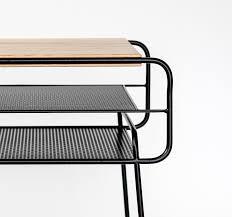 double nightstand iron u0026 wood series on behance