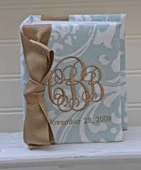 monogram photo album monogrammed baby books photo albums the pink giraffe
