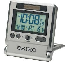 Buy seiko lcd travel alarm clock clocks argos