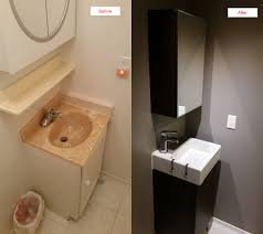 Powder Room Makeovers Photos - diy powder room makeover for mother in law u0027s 30 years old house