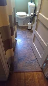 installed vinyl flooring tile kitchen home interior