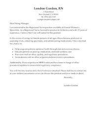 sample cover letter for registered nurse resume cover letter