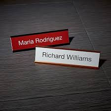 Name Tag On Desk Name Plates Name Plaques Desk Signs Staples