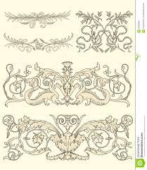set of five classical ornaments royalty free stock photo image