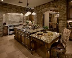 Kitchen Island With Attached Table World Style Kitchens In Las Vegas With Flanders Weave Tile