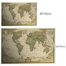 Large Vintage World Map by Online Get Cheap Map Craft Paper Aliexpress Com Alibaba Group