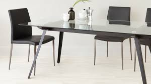 6 8 seater round dining table 6 8 seater glass dining table black powder coated legs set for
