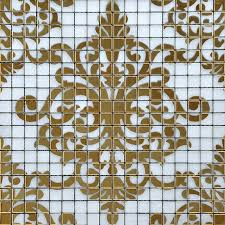 Gold Items Crystal Glass Mosaic Tile Wall Backsplashes by Glass Mosaic Tile Murals Black And Gold Crystal Backsplash Plated