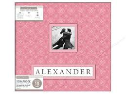 scrapbook photo albums k company 12 x 12 in scrapbook frame a name album pink
