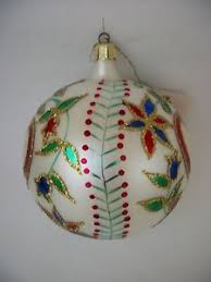 vintage christopher radko holly ribbons ball christmas ornament