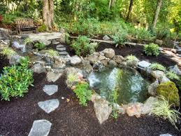 landscaping around ponds pictures round designs