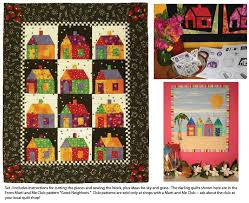 pattern block house template from marti michell template set j 6 school house block