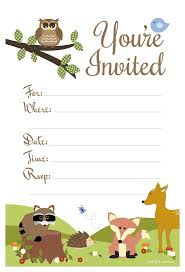 amazon com woodland animals baby shower or birthday invitations
