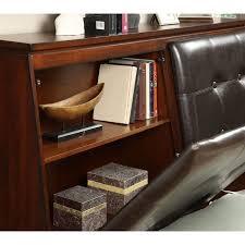 foa cm7885 odessa contemporary tufted leather headboard storage