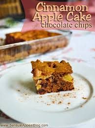 cinnamon apple cake with dark chocolate chips recipe sensual appeal