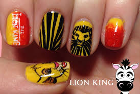 lion king nail art tutorial reqeust youtube