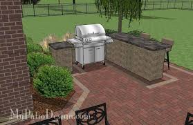 Backyard Brick Patio Design With 12 X 12 Pergola Grill Station by Large Brick Patio Design With Grill Station Bar Downloadable