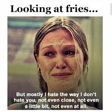 looking at fries gym humor clean eating funny diet gym humor