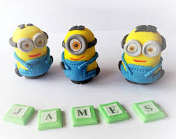 edible minions minion cake topper etsy