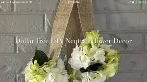 dollar tree diy neutral floral decor 2017 youtube
