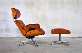 modern mid century eames lounge chair amp ottoman reproduction leather