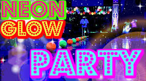 glow in the party ideas for teenagers neon glow party vlog dodgeball challenge blacklight neon