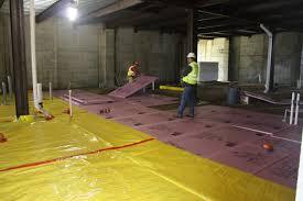 clever design ideas vapor barrier basement floor capillary break
