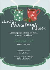 wording for neighborhood christmas party invitations wedding