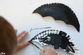 paper plate bat craft a dab of glue will do