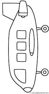 jumbo jet airplane coloring page transportation