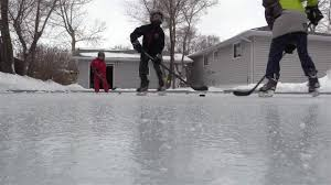 How To Build A Backyard Ice Rink by A Backyard Ice Hockey Rink Video