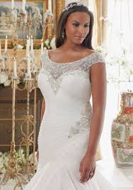 plus size fit and flare wedding dress dazzling beaded embroidery on tulle plus size morilee bridal